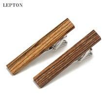 Сдержанные роскошные деревянные зажимы для галстуков мужчин