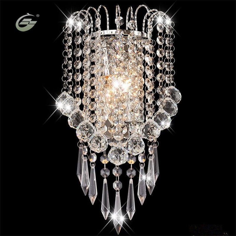 Modern Art Decor Stainless Steel Plating LED Crystal Wall Light Lamp Bedroom Home Wall Sconce Lighting Free Shipping long shaggy deep side part kinky curly synthetic wig
