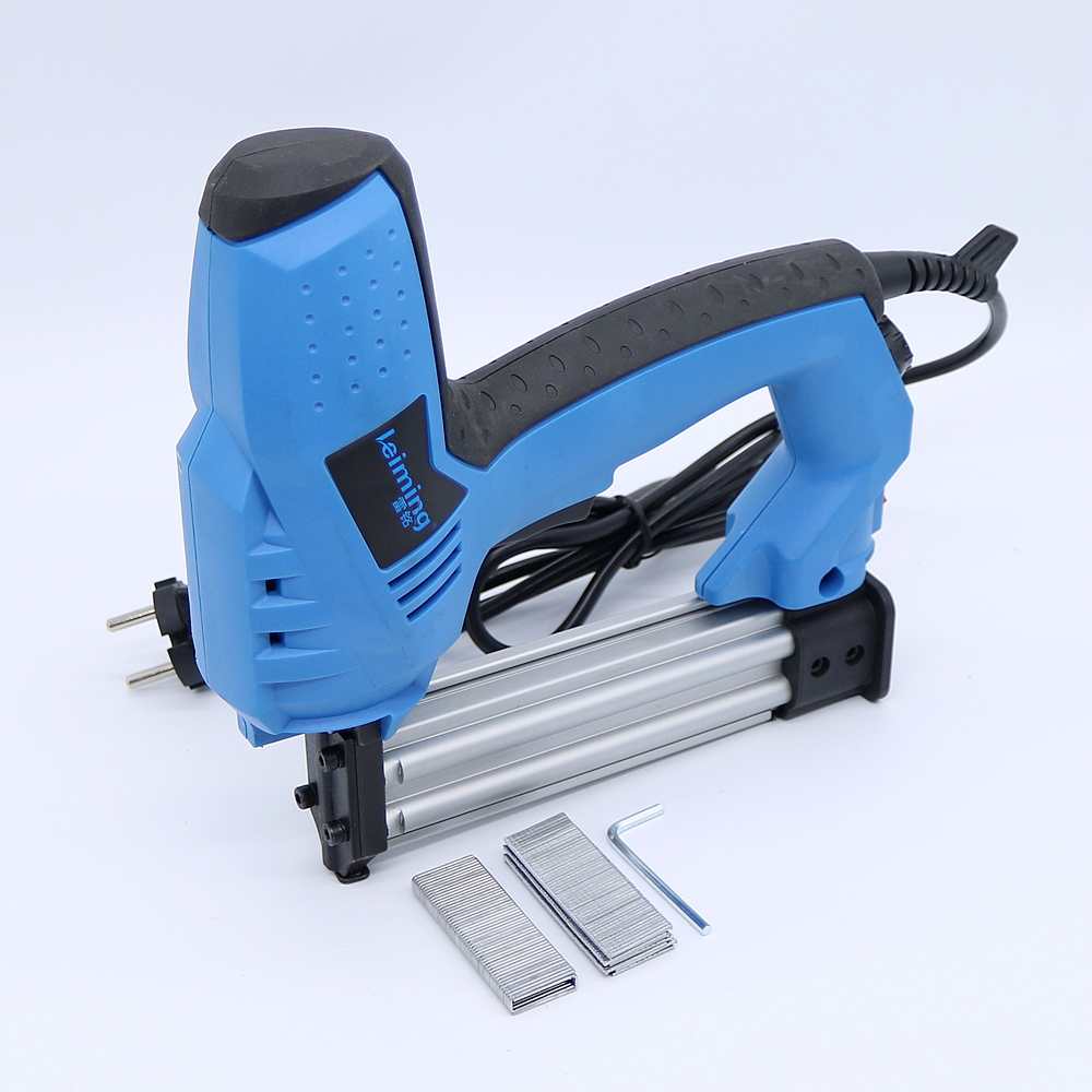 200V-240V Electric Staple Gun 2 In 1 Brad Nailer & Stapler Electric Nail Power Tool with 500 pcs nails for wood furniture 1000pcs u shape nails 612u 12mm for hand nail gun nail gun staples nailer stapler