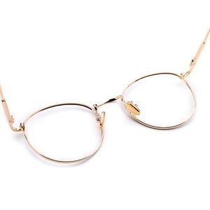 Image 5 - المعادن النساء الرجال مستديرة الرجعية العين إطارات النظارات للنساء نظارات خمر شفافة النظارات موضة عالية الجودة # M5211