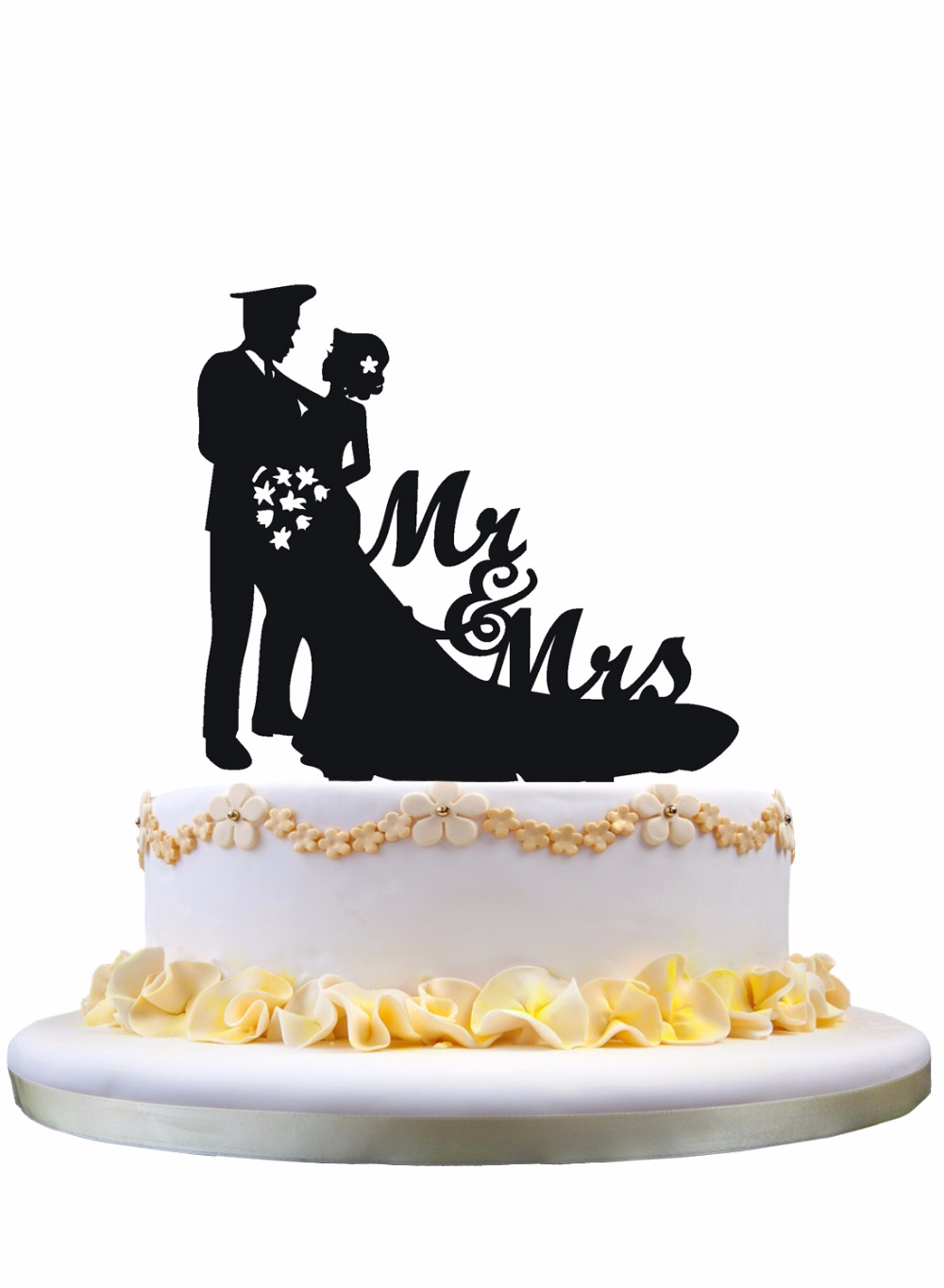 Meijiafei Bride and Police Groom Silhouette Script Mr&Mrs Wedding ...