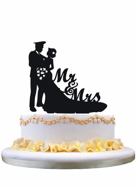 Meijiafei Bride and Police Groom Silhouette Script Mr&Mrs Wedding ...