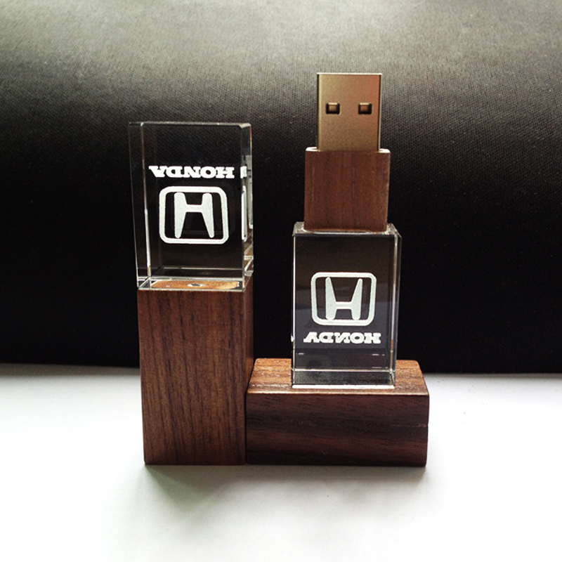 buy wooden crystal transparent usb flash drive for honda car logo 4gb 32gb usb. Black Bedroom Furniture Sets. Home Design Ideas