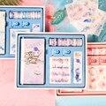TN diario viajero espiral cuaderno juego de regalo, planificador de diario Personal DIY con cinta Washi Clips de papel pegatina caja de regalo