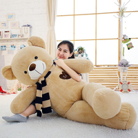 Мягкие биги плюшевые медведи чучело Плюшевые игрушки с шарфом 120 см 140 160 180 Kawaii большие медведи для детей огромная Подушка куклы