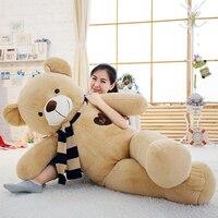 Мягкий Большой Мишка чучело Плюшевые игрушки с шарфом 100 см 120 см 140 см 160 см Kawaii Большой медведи для детей гигантские подушки куклы