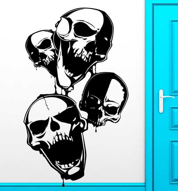 Aliexpresscom  Buy Skull Scary Anarchy Wall Decal Room Vinyl - How to create your own vinyl stickers at home