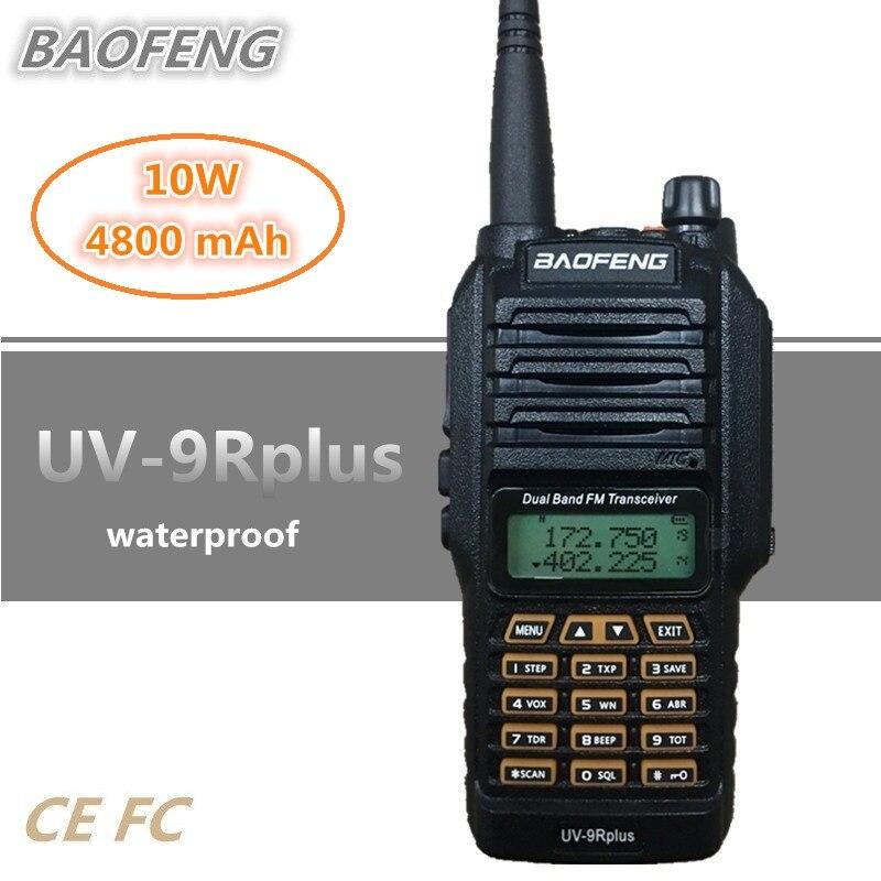 2019 BAOFENG UV 9R PLUS 10W 4800mAh Walkie Talkie 10KM Waterproof UHF VHF HF Transceiver Handheld