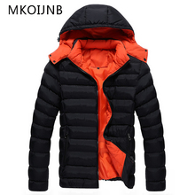Top Quality MKOIJNB New Winter Casual Cotton Jacket Men Hoodie 2017 Thick Warm Slim Fit Brand Men's Jackets Hooded Parkas
