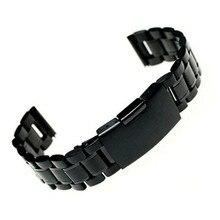 Мужские Ремешки для наручных часов, браслет, 18 мм, 20 мм, 22 мм, ремешок из нержавеющей стали, ремешок с прямым концом, прочные звенья, Клавдия