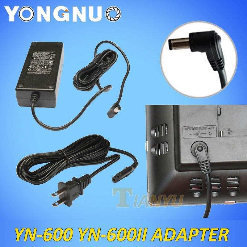 YN600 YN600II AC Adapter Power Supply YN-600 Charger Adaptor for Yongnuo LED Video Light AC input to