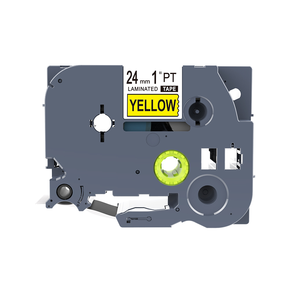 1 Piece PUTY Label Tape Black On Yellow 24mm Brother Tze Tapes PTZ-651 TZe-651 Label Cassette Tape