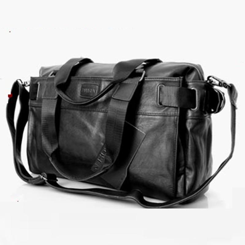цена на high-quality pu leather single shoulder bag fashion new travel bag for men's casual messenger bag black large capacity handbag