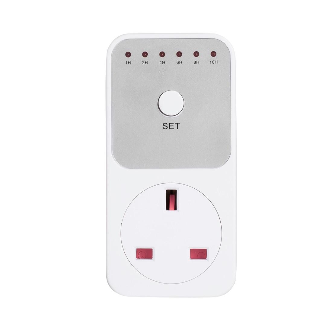 цена на 10Hr Timer Socket Countdown Intelligent Time Setting Swtich Timer Control Socket Electricity Power Metering US EU UK Plug Socket