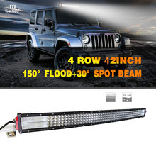 CO LIGHT 42'' Led Bar 744W Led Chip 8D 74400Lm 12V Led Light Bar Auto Car Driving Light for 4X4 Offroad Lada Niva ATV Jeep Ford