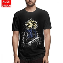 Splatter Future Sword Tee Unisex Retro Homme Tee Shirt Pure Cotton Plus Size T-shirt Dragon ball t shirt For Gift t shirt