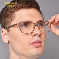 CHFEKUMEET Men Glasses Frames Wood Grain Eyewear Eyeglasses Prescription Glass Frames Optical rectangle with original box