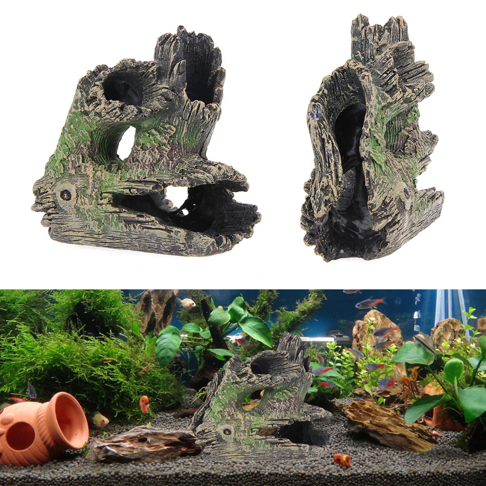 China aquarium fish tank price - 15 15 6cm Artificial Wood Aquarium Decoration Fish Tank Resin Ornaments Wood Landscap Fish