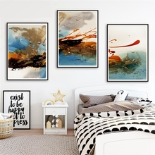 Abstract Art Colorful Wall Decor Bathroom Pictures Canvas Prints Painting for Living Room Work Gift