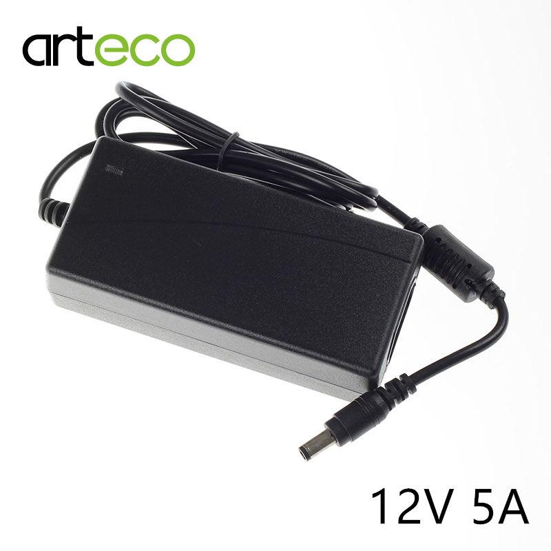 5a Ac100-240v To Dc 12v 5a Power Adapter For Led Strip Lcd Cctv Power Transformer Free Shipping Consumer Electronics