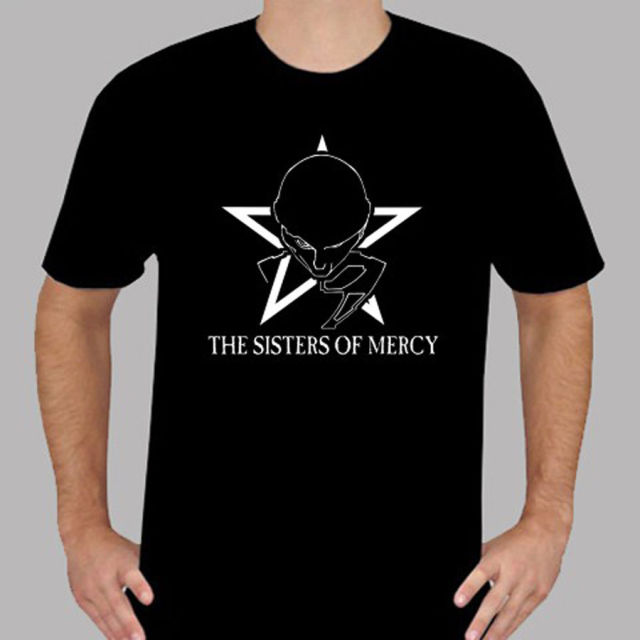 New The Sisters Of Mercy Rock Band Symbol Mens Black T Shirt Size S