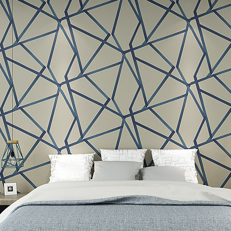 Online buy wholesale modern wallpaper blue from china for Cheap designer wallpaper