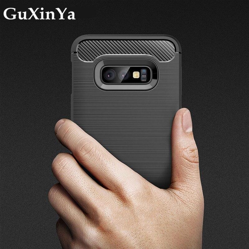 Silicone Case For Samsung Galaxy S10E Cover For Samsung S10E Case Soft Carbon Fiber Black Case For Samsung Galaxy S10E/ S10 Lite