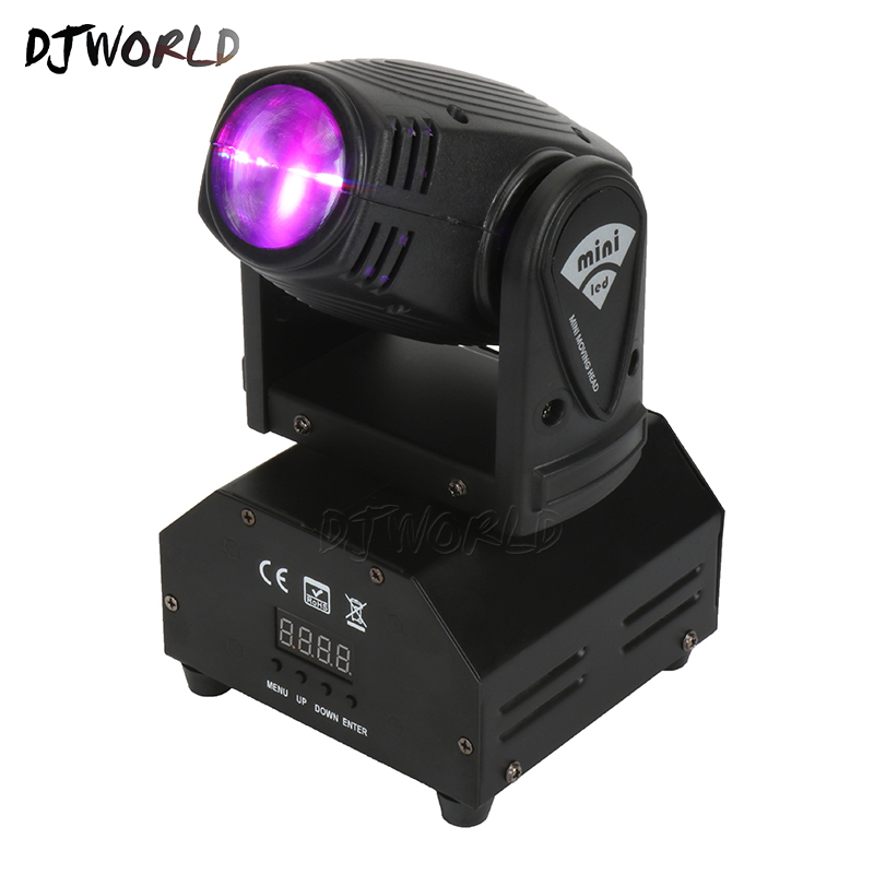 DjWorld  Moving Head Light Mini LED Spotlight Nightclub Bar 10W Lighting General Professional Lighting Equipment