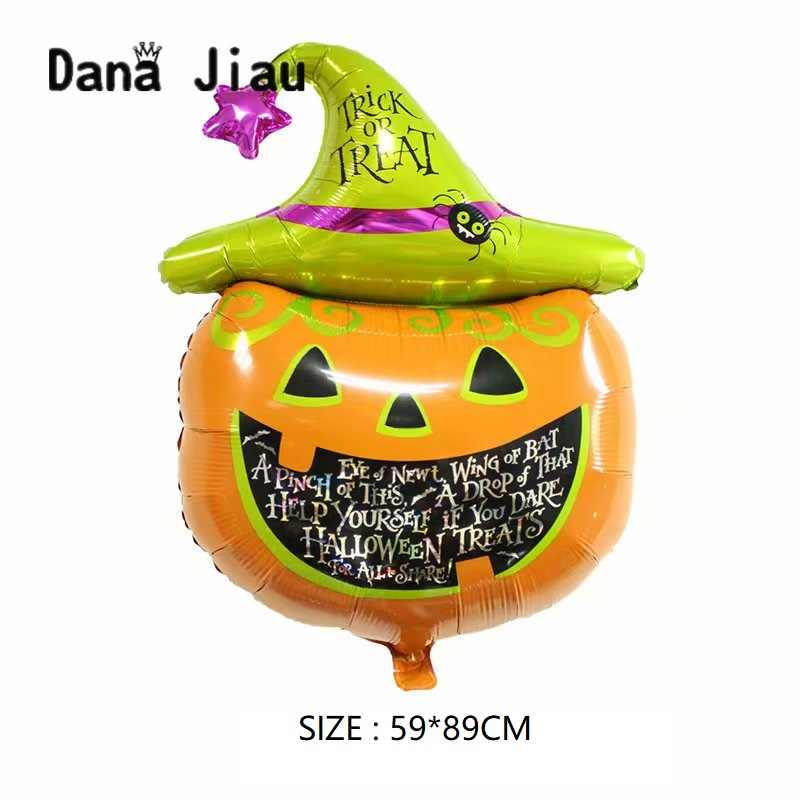 New Foil balloons Decorações Do Partido do Dia Das Bruxas abóbora fantasma morcego negro esqueleto brinquedo Inflável do feriado bithday bolas Fornecedor