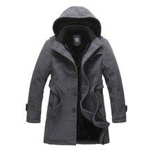 2016 Stylish Fashion Men's Autumn Winter Wool Coat Windbreaker Korean Slim Fit Single Breasted Trench Jacket Coat Men Overcoat
