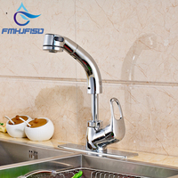 Factory Direct Sale Kitchen Faucet With Pull Out Dual Functions Chrome Finish Water Taps