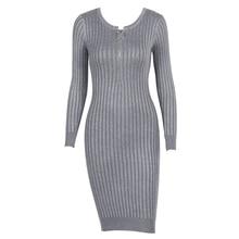 Трикотажные Свитеры для женщин до колена платье для женщины с длинным рукавом на молнии Весна 2018 новый теплый Платья для женщин WS5353Z
