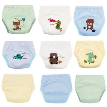 2112892b03ae Pantalones de entrenamiento de bebé pañal reutilizable paño pañal lavable bebé  niños pañales para niños pantalones