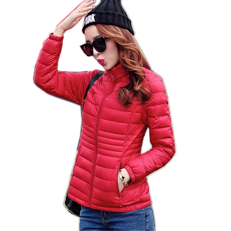 2019 Fashion Ultralight   Parka   Winter Jacket Women Unique Style Women's Jackets Warm Thin Winter Coat Women Plus size Jackets