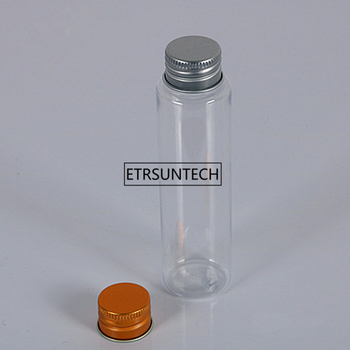 80ml transparent mask bath salt test PET tube with aluminum cap Empty travel cosmetic packing bottle F2016