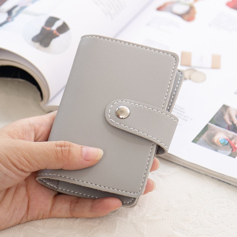 APP BLOG 24 Card Slots Women Men ID Credit Business Cards Holder Wallet Passport Cover Card Bag Case Femme Carteira Mujer Purse image