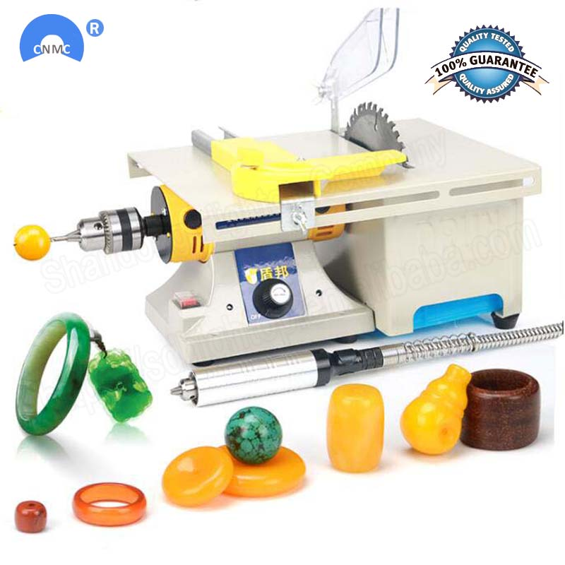 Free Ship Multifunction Mini Table Saw Stone Polisher Jade Engraving Machine Grinding Machine Table Saws Jade Cutting Machine