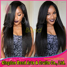 Natural straight Top Quality lace front wig glueless full lace human hair wigs for black women virgin Brazilian nice wig