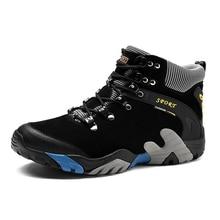 Зимние Водонепроницаемый Открытый Поход Пеший Туризм Ботинки Для мужчин Спорт Восхождение Пеший Туризм Обувь кроссовки прогулочная Обувь Zapatillas Hombre