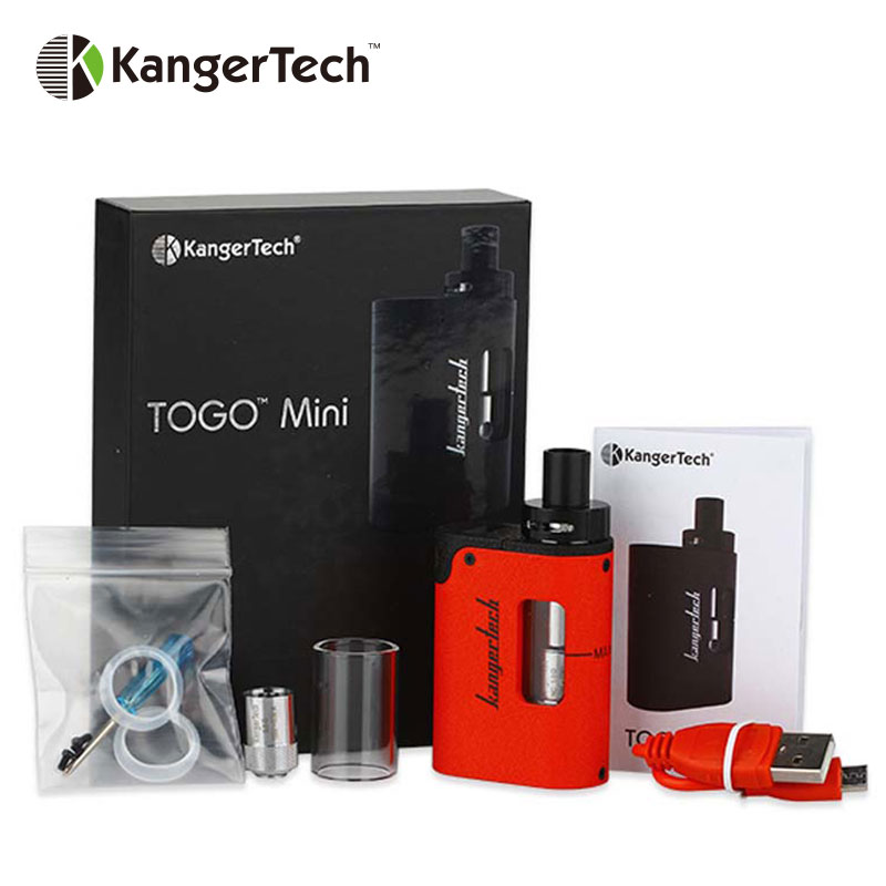 Original Kangertech TOGO Mini Starter Kit 1600mAh Internal Battery and 3 8ml E juice Capacity w