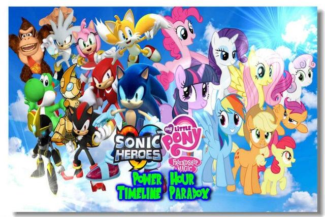 Free Ship Girl Sonic VS Twilight Sparkle Bedroom Decor Custom Canvas Poster  Classic Wallpaper New Design