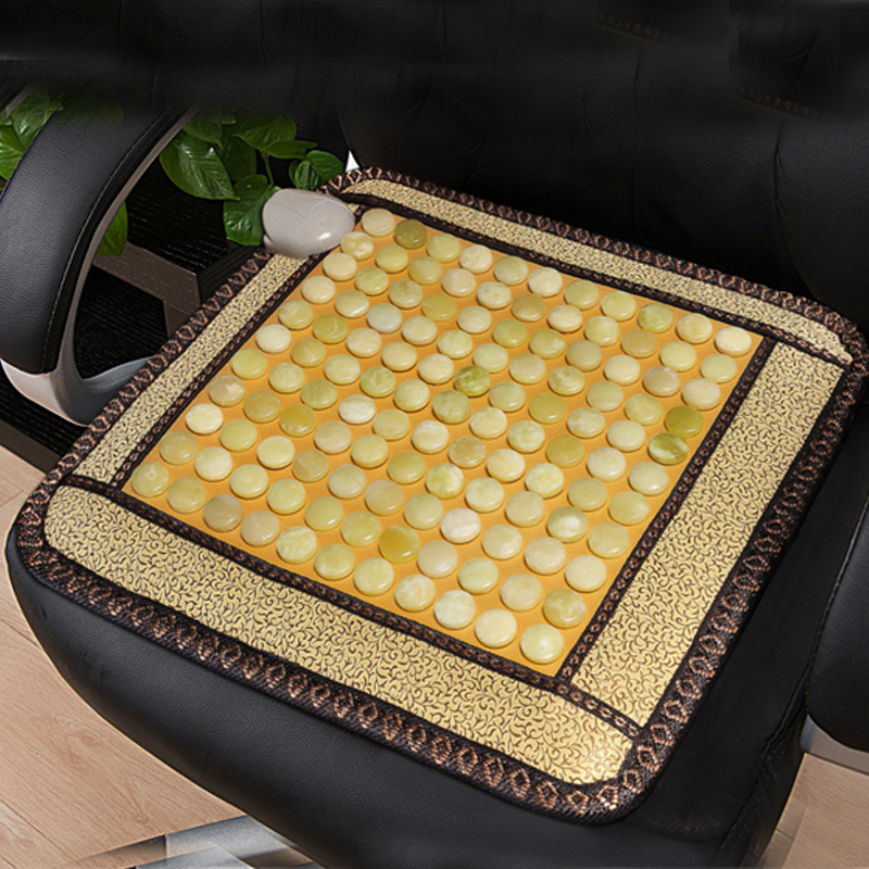 (220V)NEW Natural Germanium Tourmaline Stones Heating Mat Jade Stone Massage Mat 2017 new natural jade germanium tourmaline stones infrared heating mat natural jade facial beauty massage tool jade roller