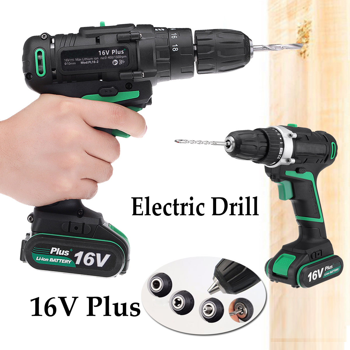 AC 100-240V Cordless Electric Drill Screwdriver Lithium-ion Battery 16V US Plug Mini Hand Drill Wireless Electrical Power Tools 0 8e5 professional electric screwdriver hand tool 100 240v us plug