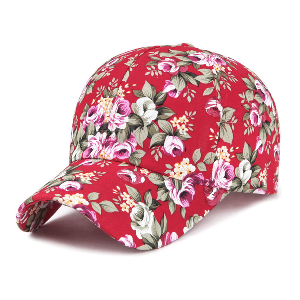 Floral   Baseball     Cap   For Women Summer Beach Fashion Flower Sun Hat Breathe Freely Mesh Bone   Cap   With Women Lady Girls