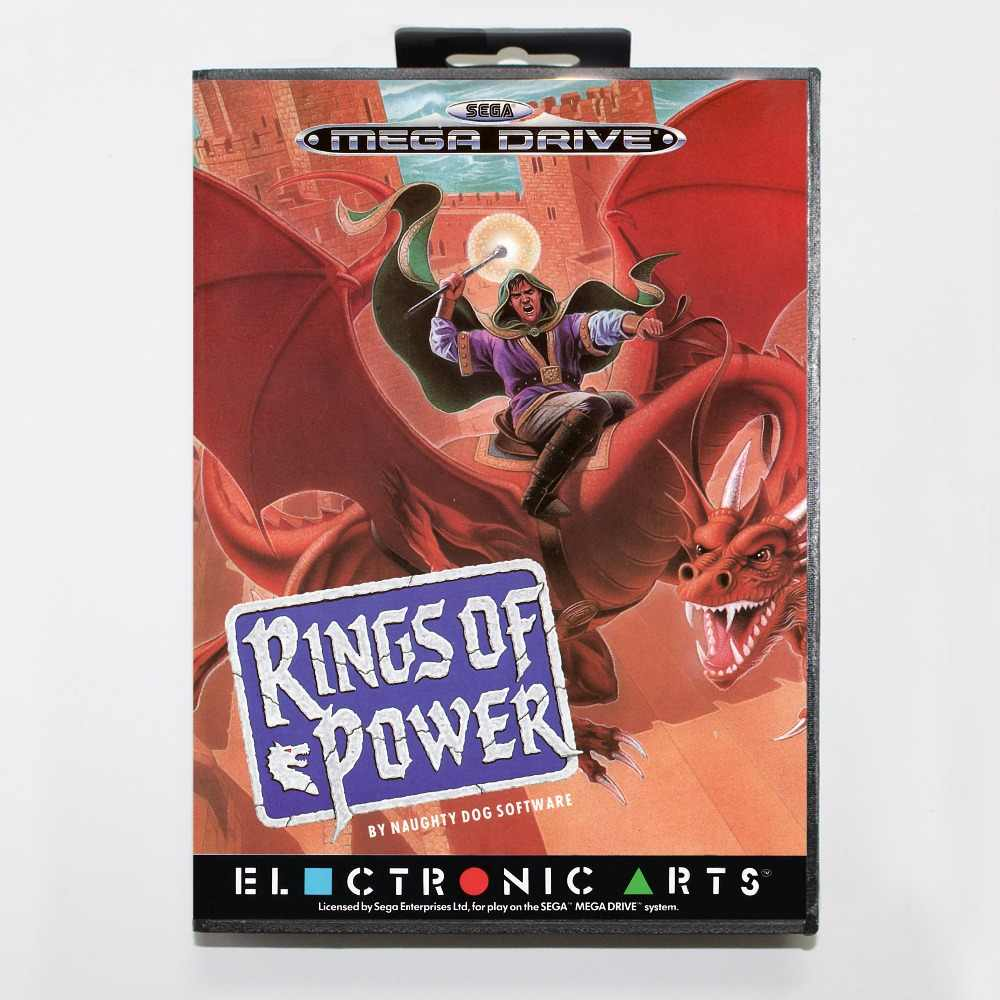 Rings of Power Game Cartridge 16 bit MD Game Card With Retail Box For Sega Mega Drive For Genesis