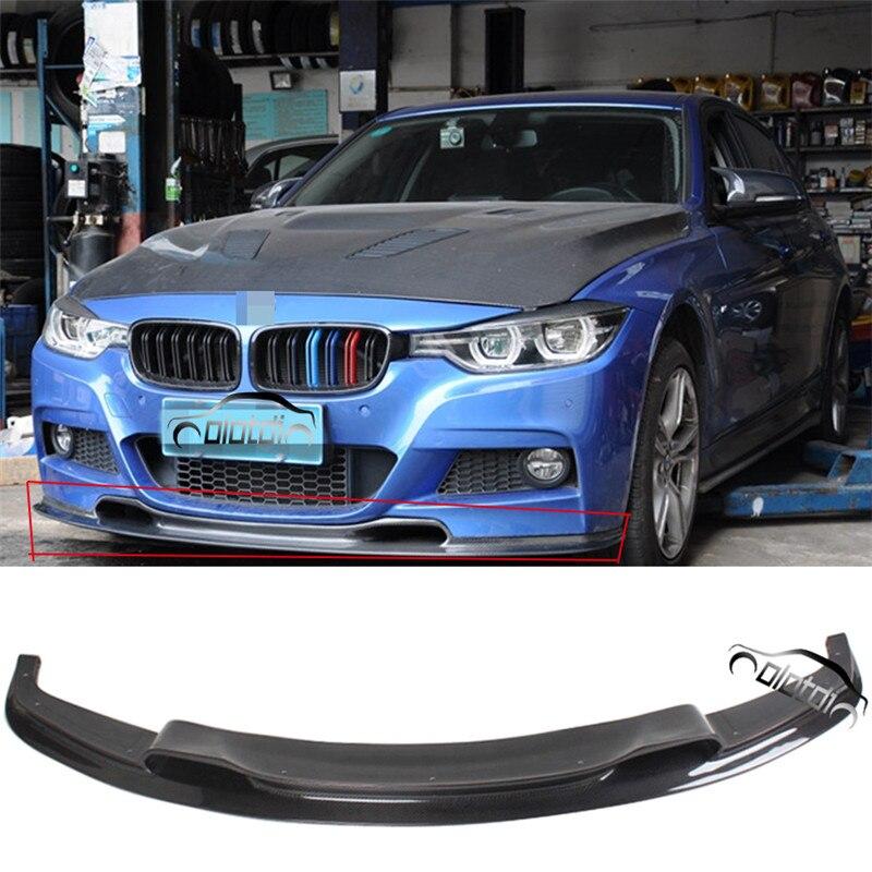 OLOTDI Top qualité fibre de carbone STR Style pare-chocs avant Spoiler séparateur voiture pare-chocs lèvre tablier pour BMW F30 M tech pare-chocs