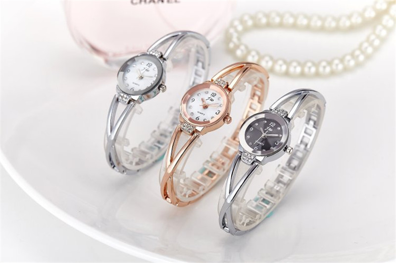 New Fashion Rhinestone Watches Women Luxury Brand Stainless Steel Bracelet watches Ladies Quartz Dress Watches reloj mujer Clock 14