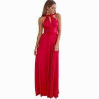 Winter Evening Party Sexy Dress Long Maxi Red Dress Wedding Bridesmaids Multiway Bandage Dress Lady Fashion