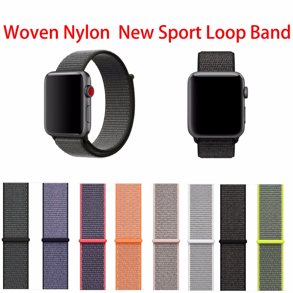 Milanese Soft Woven Nylon New Sport Loop Band For Apple Watch Bands Series 1 2 3 quick easy adjustment Bands 38mm 42 mm цена