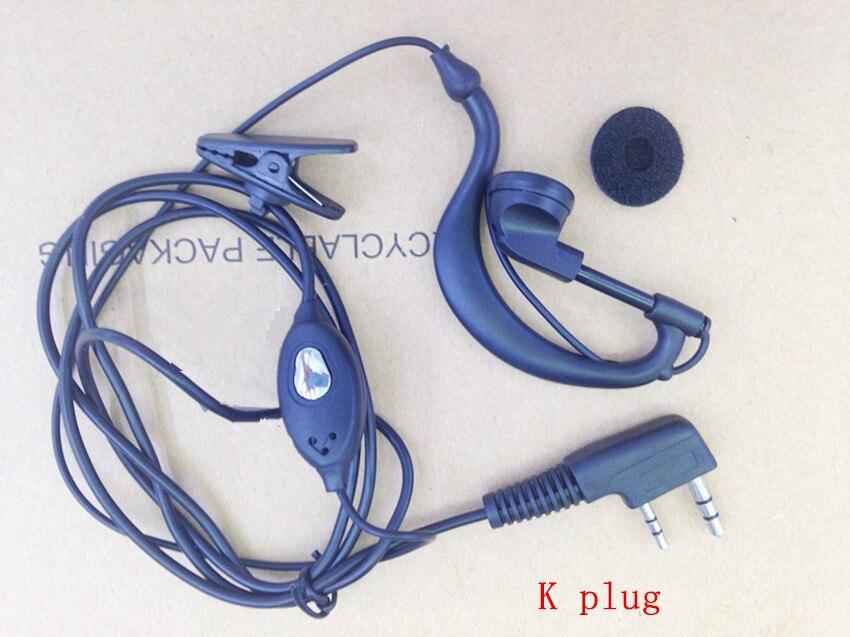 Honghuismart K plug écouteur casque pour Kenwood Baofeng BF888S, BF-UV5R, BF-UV82, Quansheng Puxing etc talkie walkie